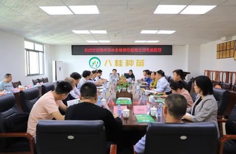 梅州市林业局带队到八桂种苗公司调研