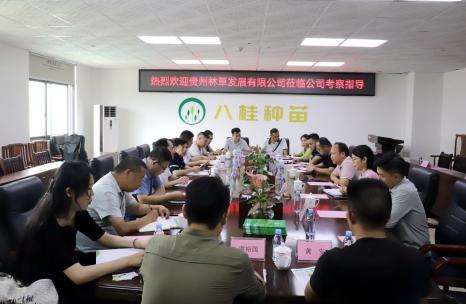 贵州林草发展公司到八桂种苗公司调研